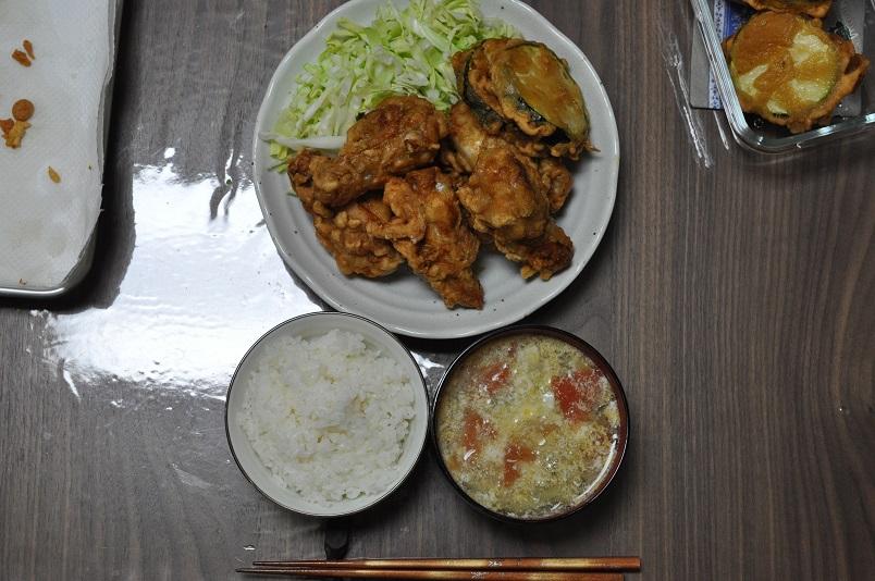 手羽元・ズッキーニ唐揚げ定食