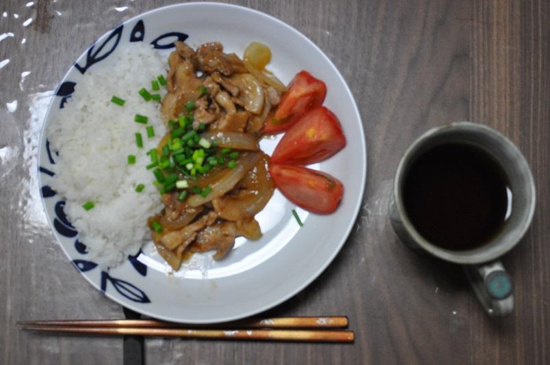 豚の生姜焼きライス