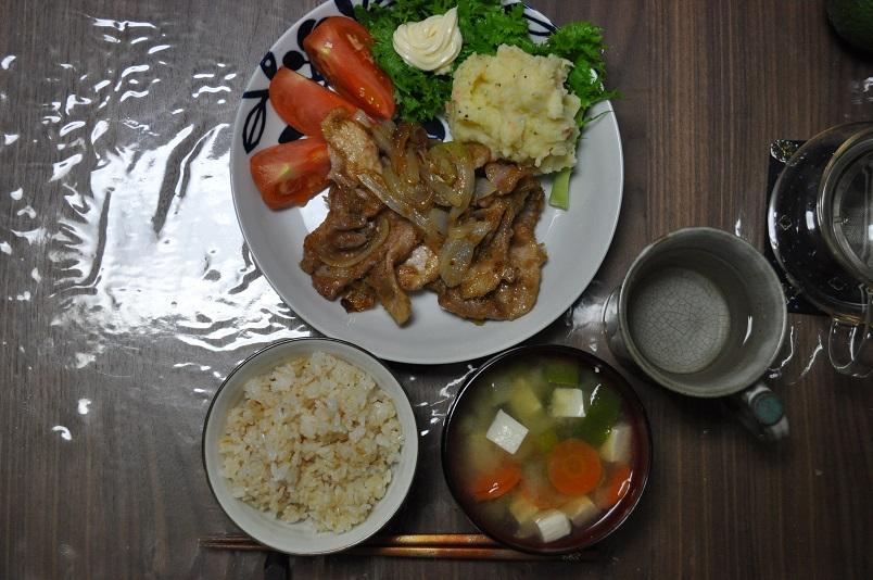 豚の生姜焼き&マッシュポテト