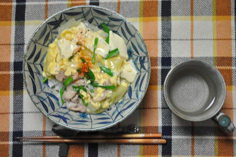 肉豆腐の丼ぶり