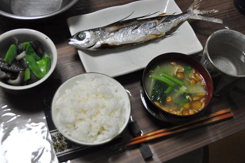 トビウオの塩焼き定食