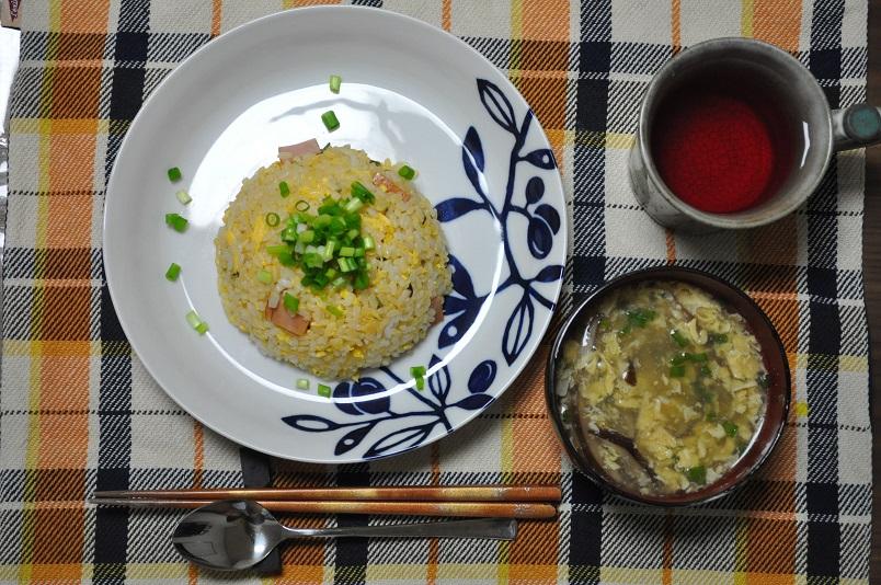 チャーハン&卵スープ