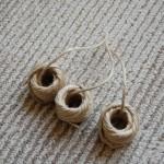 まとめた紐の玉